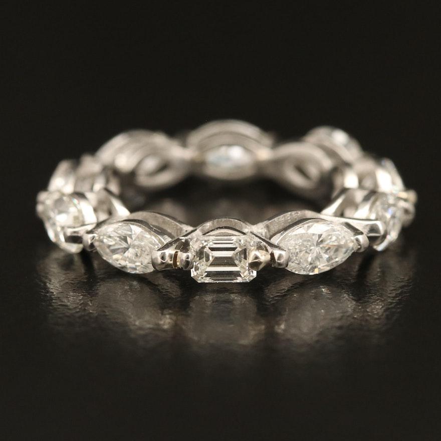 Platinum 3.03 CTW Diamond Eternity Band
