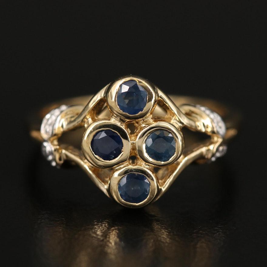 Sterling Bezel Set Sapphire Ring