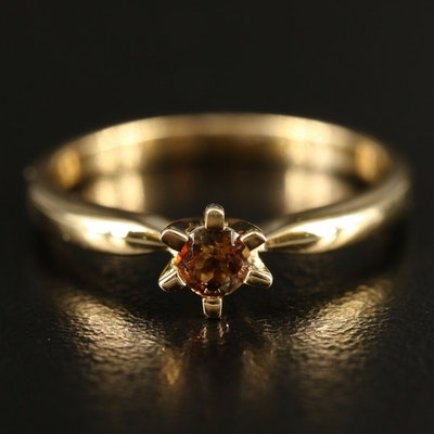 Sterling Andalusite Solitaire Ring