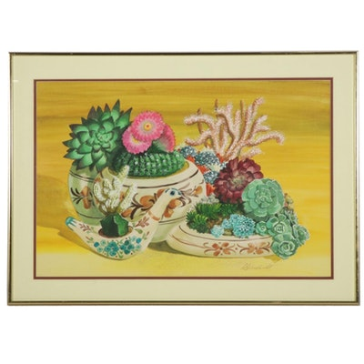"""Dorothea S. Wendlandt Watercolor Painting """"Mexico Memories"""""""