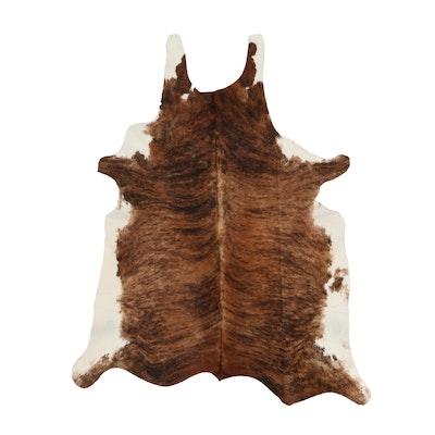 5'4 x 6'6 Natural Brindle Cowhide Area Rug