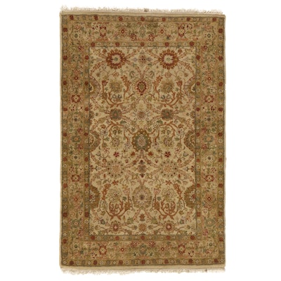 3'11 x 6'4 Hand-Knotted Indian Agra Area Rug