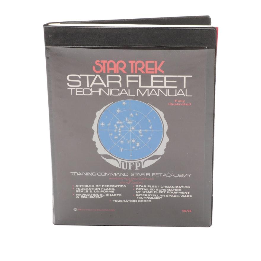 "First Printing ""Star Fleet Technical Manual"" by Franz Joseph, 1975"