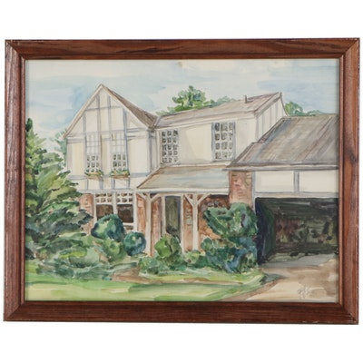 Watercolor Painting of House, 2000