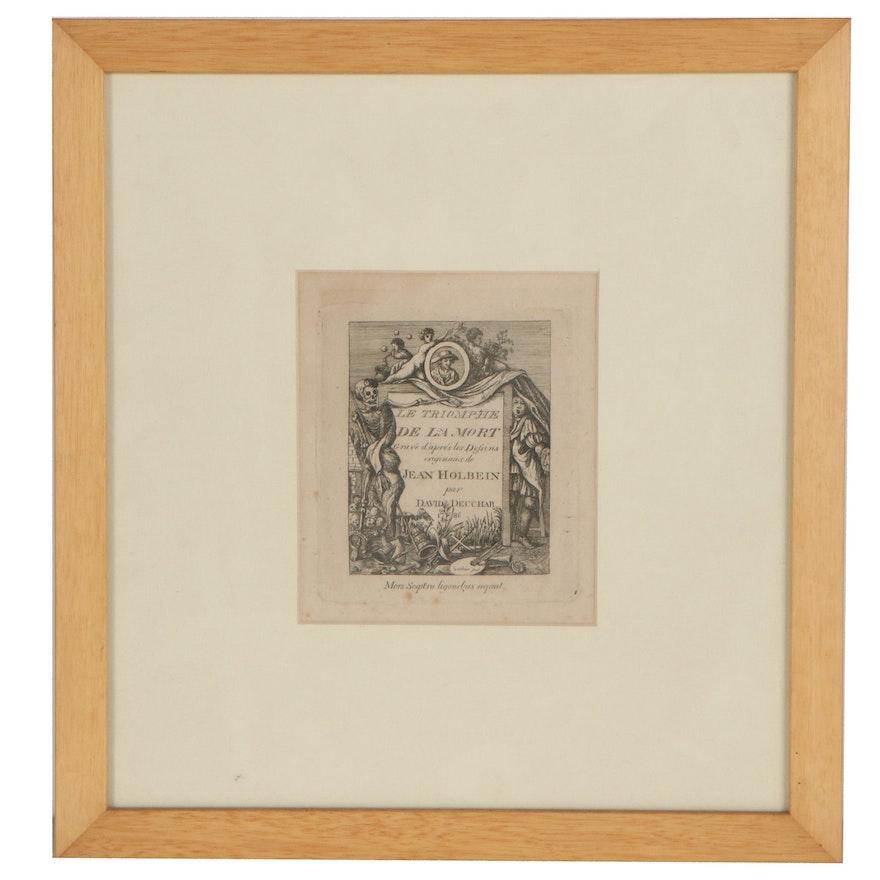 "David Deuchar Etching ""Le Triomphe de la Mort,"" 1788"