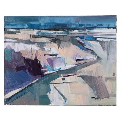 "Jose Trujillo Oil Painting ""Dark Skies"""