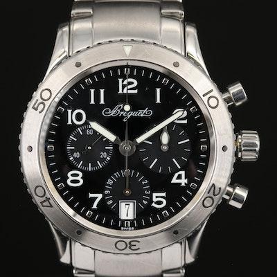 Breguet Type XX Transatlantique Chronograph Stainless Steel Wristwatch