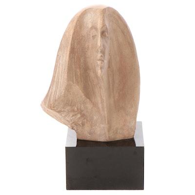 Austin Productions Ceramic Sculpture of Female Figure, 1980
