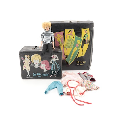 """Barbie """"Midge"""" Doll by Mattel, ca. 1962, with Accessories, Cases"""