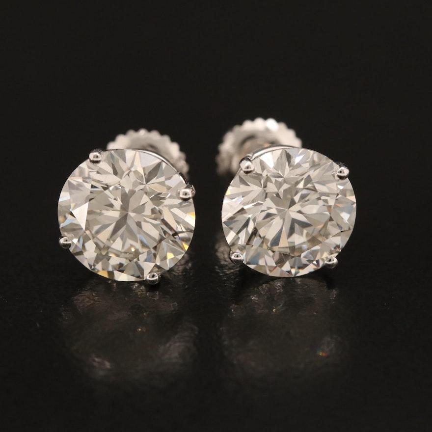 14K 5.45 CTW Diamond Stud Earrings