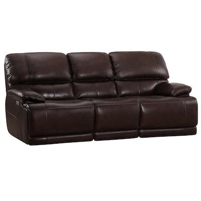 "Simon Li ""Aleena"" Leather Power Reclining Sofa with Power Headrest"