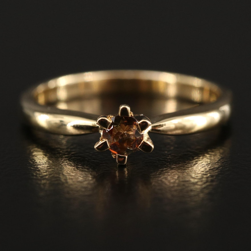 Sterling Silver Andalusite Solitaire Ring