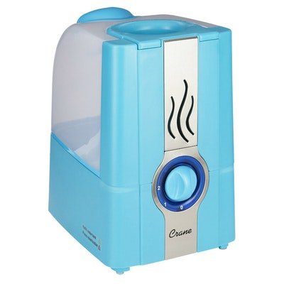 Crane 1-Gallon Portable Warm Mist Humidifier in Aqua