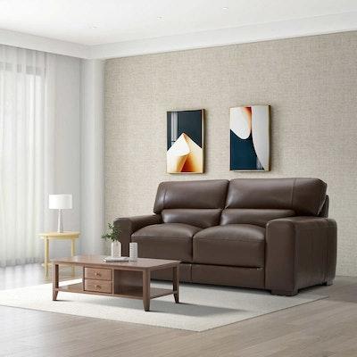 "Gilman Creek Furniture ""Rawlins"" Leather Loveseat"