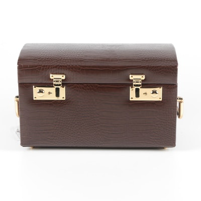 Collectives Savoy Collection Brown Bonded Leather Jewelry Box