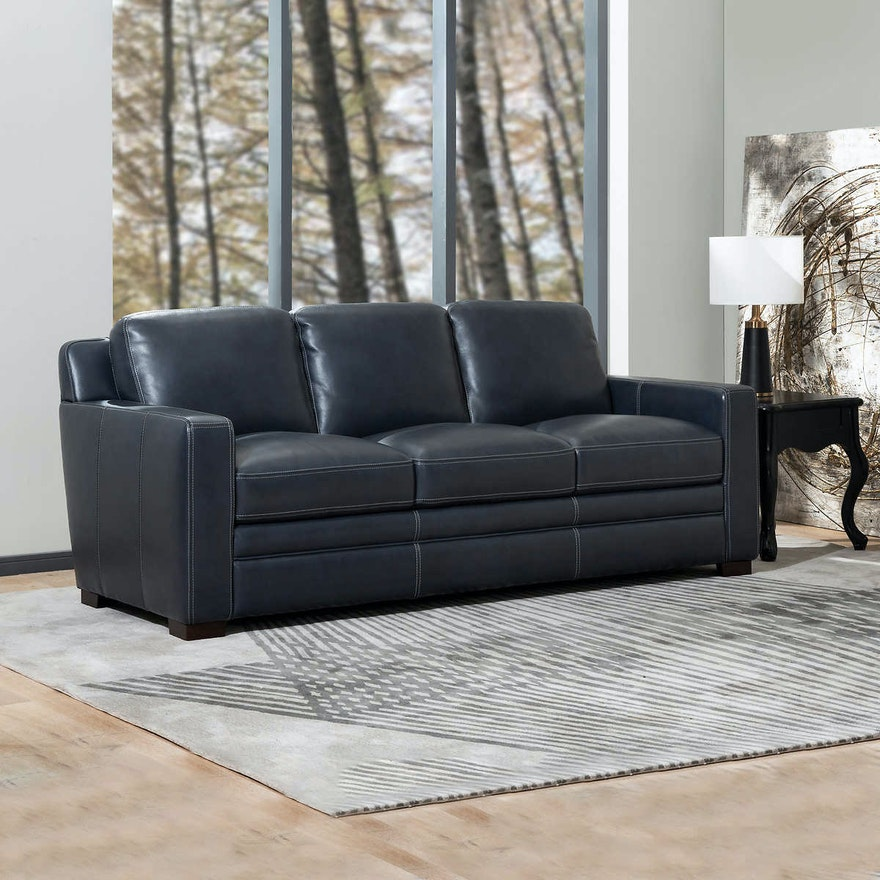 """Simon Li """"Chanton"""" Three-Seat Leather Sofa"""