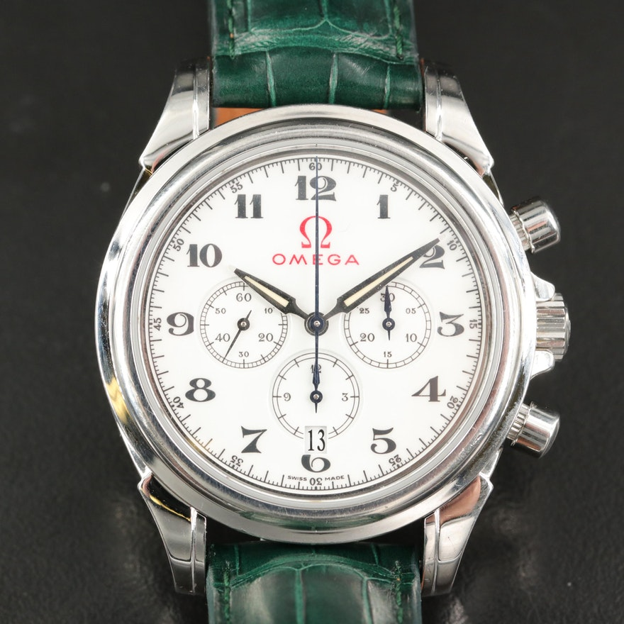 Omega DeVille Co-Axial Chronograph Olympics Edition Stainless Steel Wristwatch