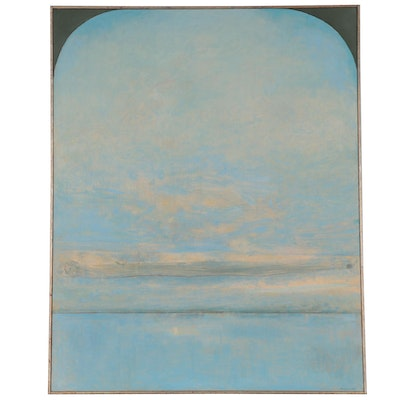 """Robert Knipschild Large-Scale Oil Painting """"Arch and Blue,"""" 1983"""