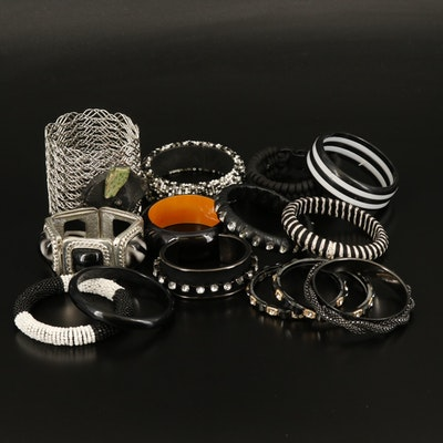 Jasper, Wood, Glass and Gemstone Bracelet Selection