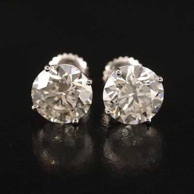 14K 4.57 CTW Diamond Stud Earrings