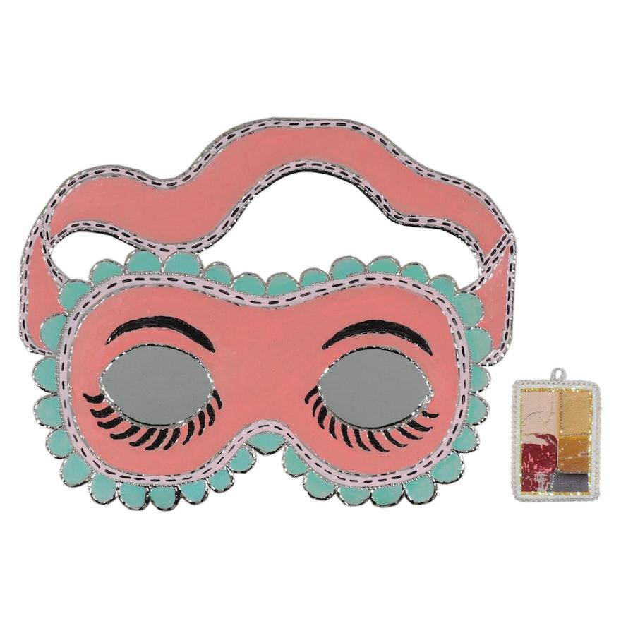 Batres Gilvin Carnival Mask Punched Tin Mirror, 21st Century