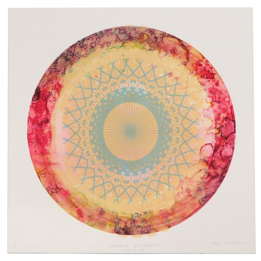 """Radha Lakshmi Monoprint """"Harmonic Resonance,"""" 2021"""