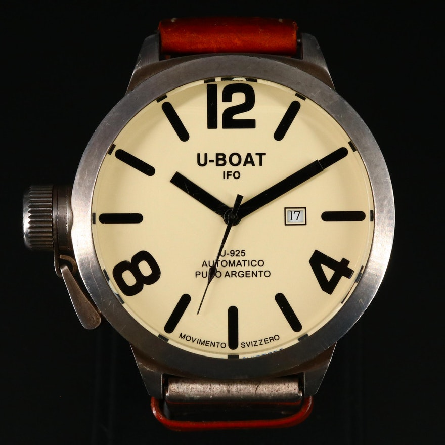 U-Boat Classica Left Hook Limited Edition Sterling Silver Wristwatch