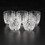 """Waterford Crystal """"Donegal"""" Old Fashioned Glasses, Late 20th Century"""