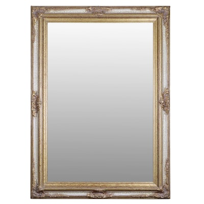 Silverwood Products Gilt Composition Frame Beveled Glass Wall Mirror