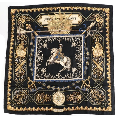 "Hermès ""Ludovicus Magnus"" Silk Twill Scarf"