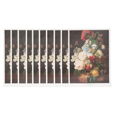 """Offset Lithographs After Wijbrand Hendricks """"Flower Still Life,"""" Circa 1990"""