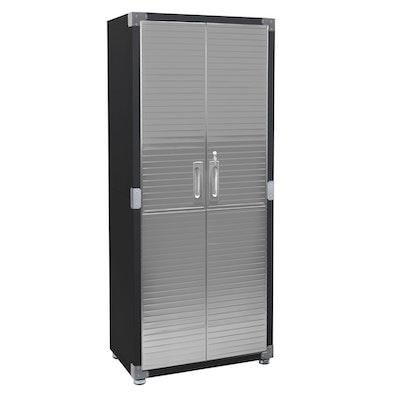 Seville Classics UltraHD® Stainless Steel 2-Door Lockable Storage Cabinet