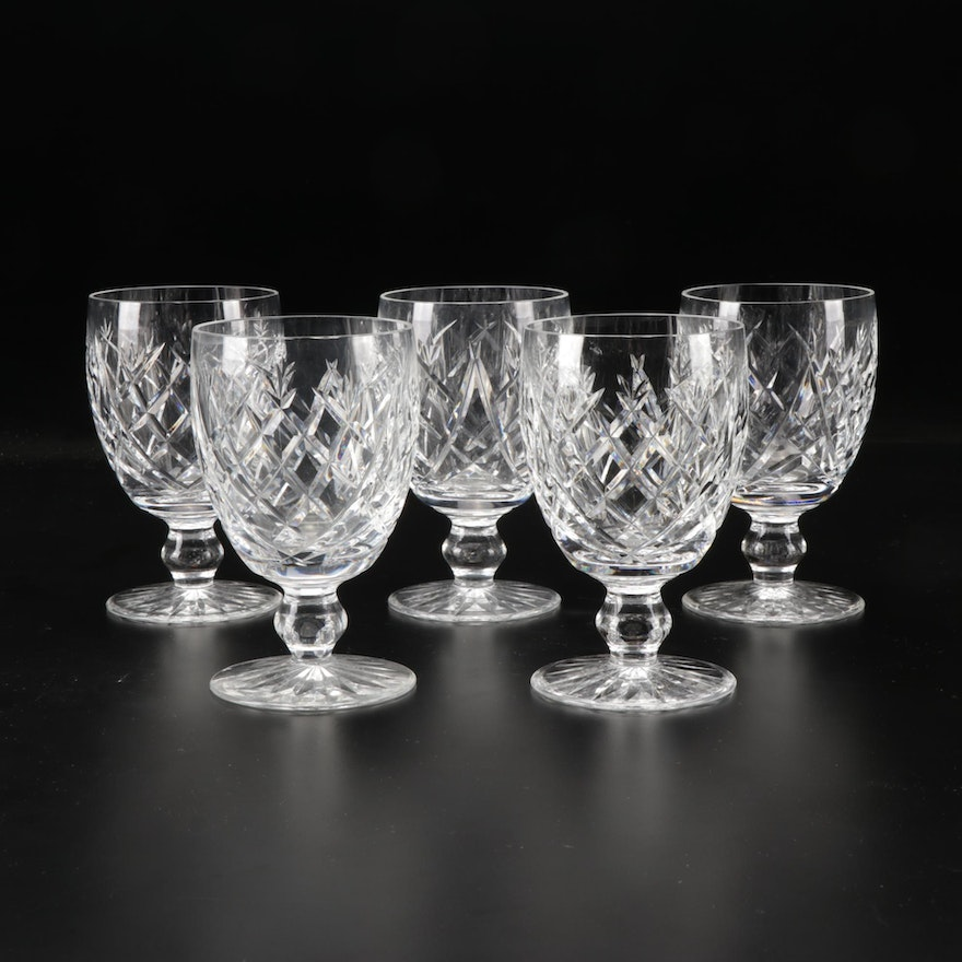 """Waterford """"Donegal"""" Crystal Water Goblets"""