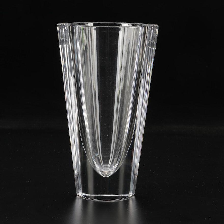 """Orrefors """"Marin"""" Crystal Flower Vase"""