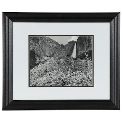 Landscape Offset Lithograph of Canyon, Late 20th Century