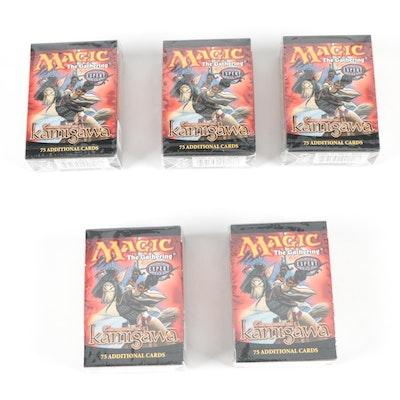 Five Magic: the Gathering Sealed Champions of Kamigawa Packs