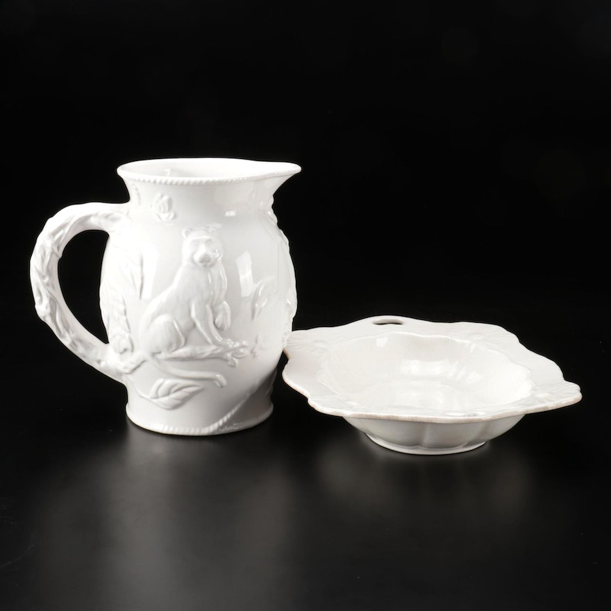 """Sabatier """"Grand Buffet"""" Vegetable Bowl with Lynn Chase Pitcher"""