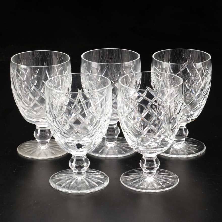 """Waterford Crystal """"Donegal"""" Water Goblets, Late 20th Century"""