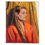 "Stephen Hankin Acrylic Painting ""Portrait of Mary,"" Circa 2018"