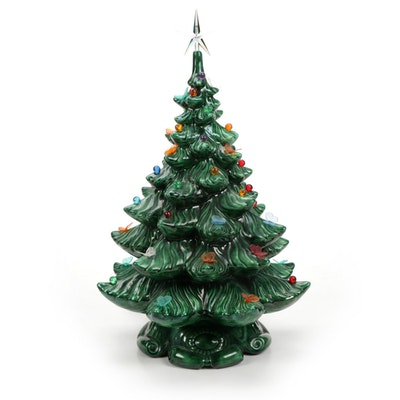 Atlantic Mold Illuminated Ceramic Christmas Tree