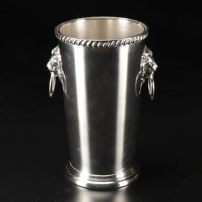Wallace Silver Plate Ice Bucket with Glass Liner