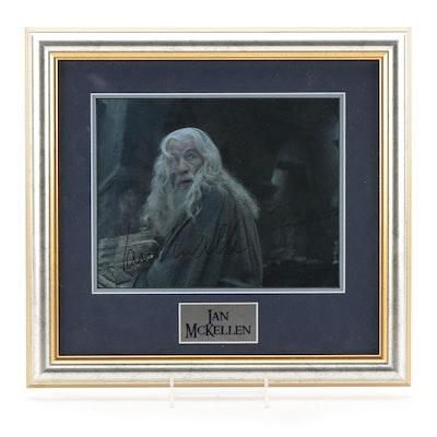 "Ian McKellen Signed ""Lord of the Rings"" Gandalf Photo Print, COA"