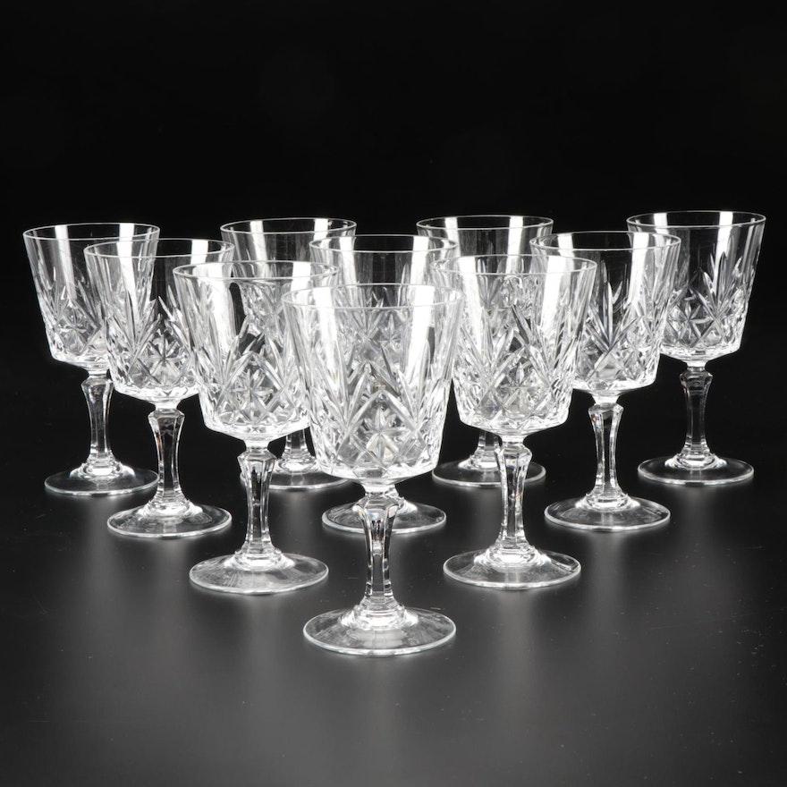"Atlantis ""Meridian"" Crystal Wine Glasses"
