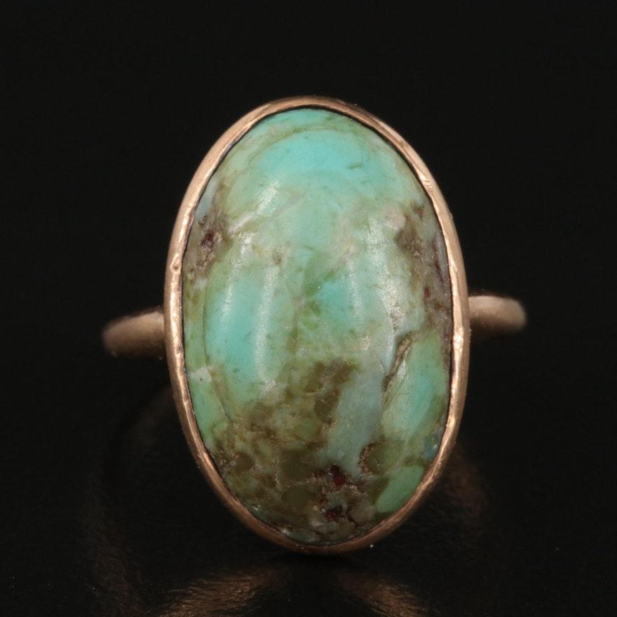 10K Turquoise Ring
