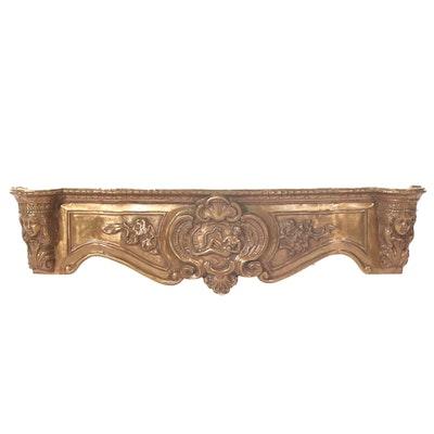 Rococo Style Brass Fireplace Frieze