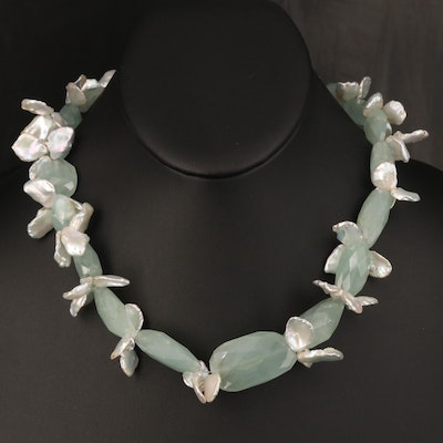 Aventurine and Pearl Necklace