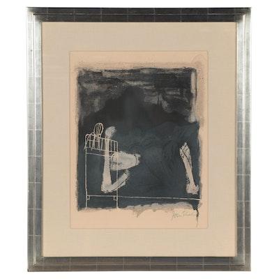 "Ben Shahn Lithograph ""Screams of Woman in Labor,"" 1968"