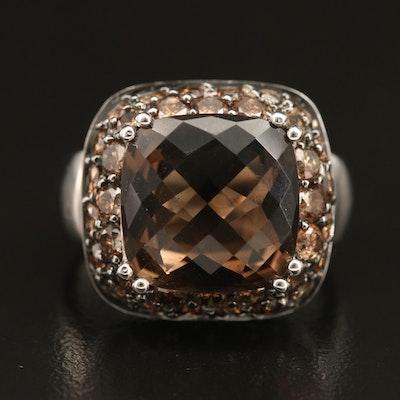 14K Smoky Quartz and 1.98 CTW Diamond Ring