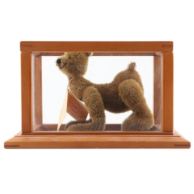 """German Limited Edition Handmade Bear """"Smily"""" by Martin in Display Case"""