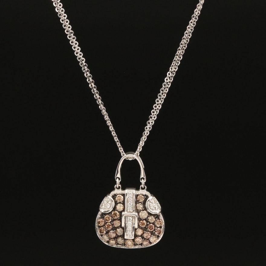 18K Mirabelle Diamond Bag Pendant Necklace